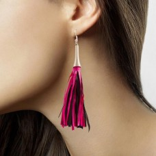 Earrings Magenta & Black