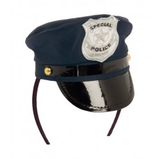 Tiara Police Cap with Badge Blue