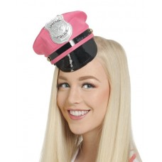 Tiara Police Cap with Badge Pink