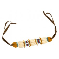 Indian necklace with Beads and Ribbon Ti
