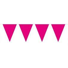 Bunting Plain Cerise 10m with 15 Flags