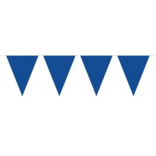 Bunting Plain Blue 10m with 15 Flags