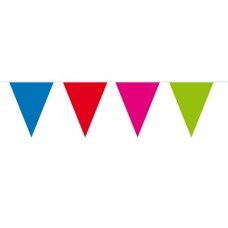 Bunting Assorted Colours 10m 15 flags