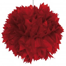 Decoration Pompom 30cm Red Light Colour