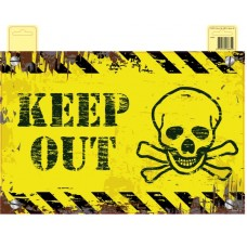 Decorative Keep Out Door Banner
