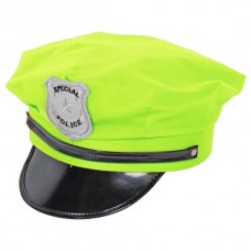 Hat Police Neon Green
