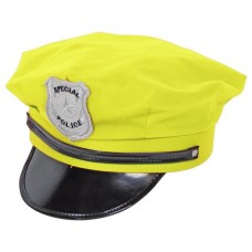 Hat Police Neon Yellow