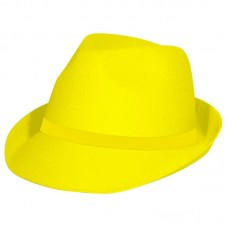 Trilby Hat Neon Yellow
