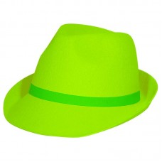 Hat Trilby Neon Green