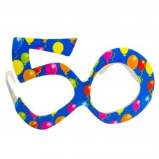 Party Glasses Birthday 50th Blue