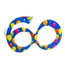 Party Glasses Birthday 60th Blue