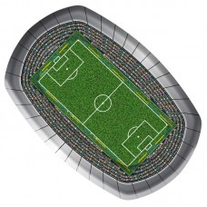 Football Party Plate 23cm 8 in Packet