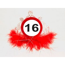 Traffic Sign 16th Tiara with Feathers