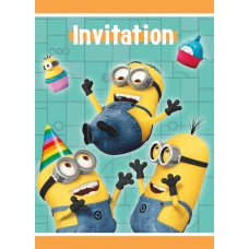 Card Invitations Despicable Me pkt 8