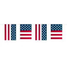 USA Party Bunting Flags 10m