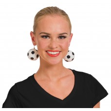 Football Earrings Black & White