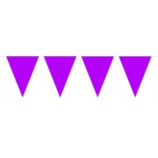 Bunting Plain Purple XL 10m