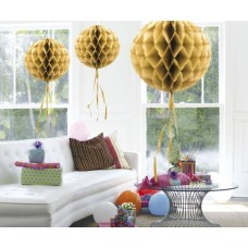 Honeycomb Paper Ball Gold 30cm