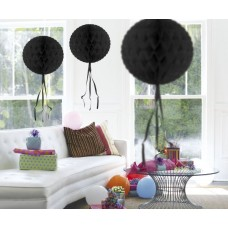 Honeycomb Paper Ball Black 30cm