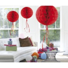 Honeycomb Paper Ball Red 30cm