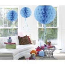 Honeycomb Paper Ball Baby Blue 30cm