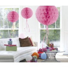Honeycomb Paper Ball Baby Pink 30cm