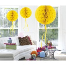 Honeycomb Paper Ball Yellow 30cm