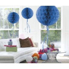 Honeycomb Paper Ball Blue 30cm