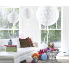 Honeycomb Paper Ball White 30cm
