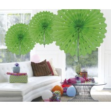 Honeycomb Paper Fan Green Lime 45cm