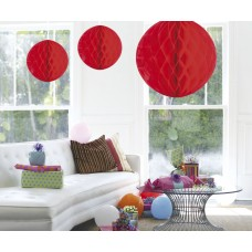 Honeycomb Paper Ball Red 50cm