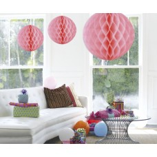 Honeycomb Paper Ball Pink Baby 50cm