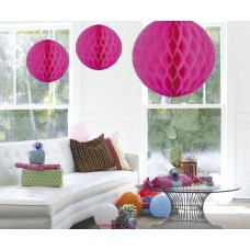 Honeycomb Paper Ball Cerise 50c