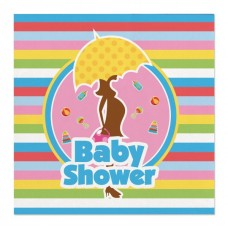 Party Napkins Baby Shower 25 x 25cm 20's