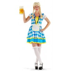 Oktoberfest Dress Tiroler Blue L/xl