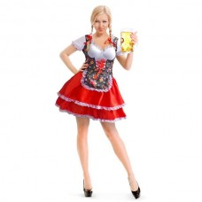 Oktoberfest Dress Tiroler Flowers S/M