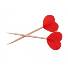 Picks to party Hearts Red 6.5cm