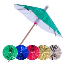 Picks to party Umbrellas Metallic 10cm