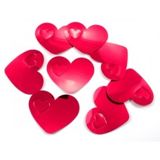 Confetti Hearts Red