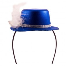 Tiara with Hat Metallic Blue