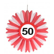 Traffic Sign 50th Honeycomb Fan 3's