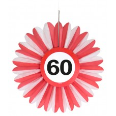 Traffic Sign 60th Honeycomb Fan 3's