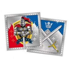 Knights Party Napkins 33 x 33cm 20's