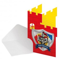 Knights Birthday Invitation 8 in packet