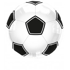 Football Foil Balloon Black in Packet