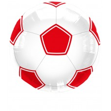 Football Foil Balloon Red in Packet