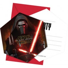 Star Wars Force Invites C/w envel 6's