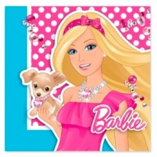Barbie Design Party Napkins - 16