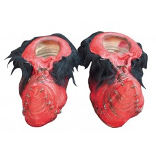 Feet Covers Latex Goblin Red