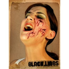Prosthetic Wounds Black Lines Face Cuts